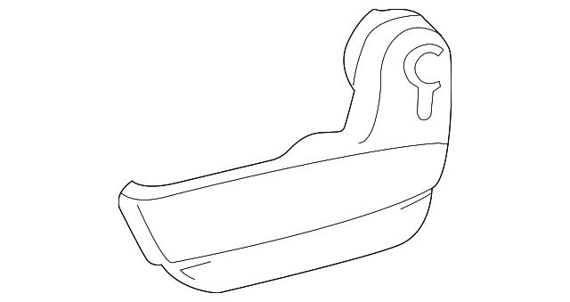 TOYOTA Genuine 71812-AE020-E0 Seat Cushion Shield
