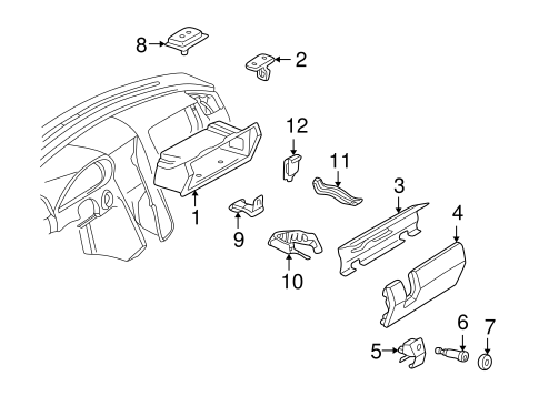 Glove Box for 1995 Mercedes-Benz C 280 #0