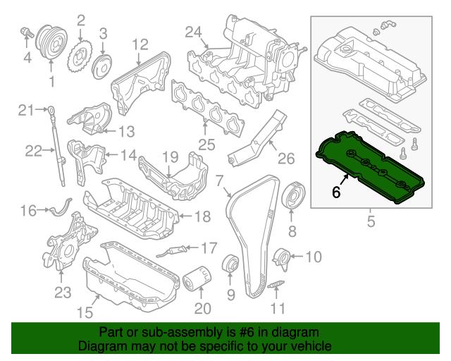 Mazda ZL01-10-235 Engine Valve Cover Gasket