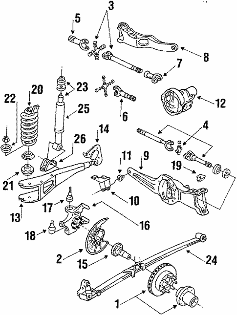 Front Suspension For 1986 Ford F 250 Blue Springs Ford Parts
