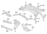 Bolt, Rear Control Arm Adjust - Acura (90178-TJB-A01)