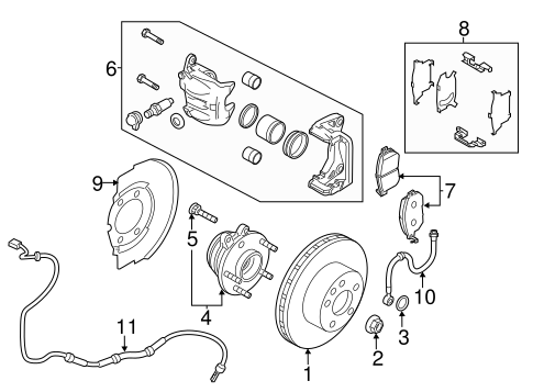 Front Brakes for 2020 Nissan Murano #0