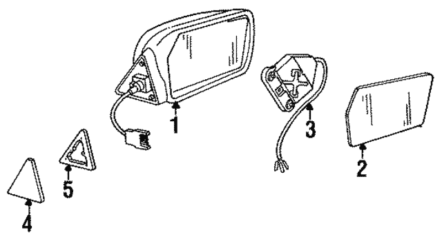 Rear View Mirror - Mercedes-Benz (123-810-13-16)
