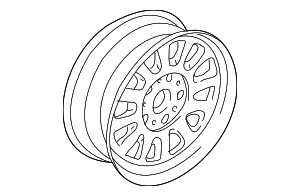 Wheel, Alloy - BMW (36-11-1-093-463)