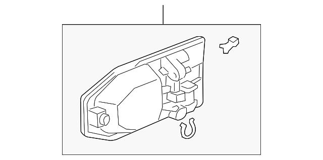 Genuine Honda 72180-SHJ-A21ZQ Door Handle Assembly Left Front