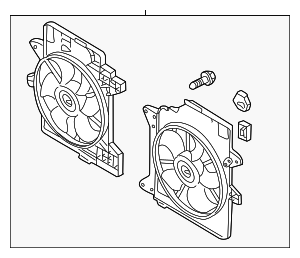 Engine Cooling Fan Assembly - Ford (5L8Z-8C607-HB)