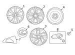 Wheel, Alloy - Lexus (4261A-48180)