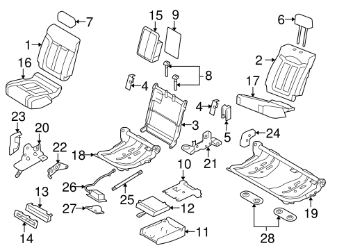 Body/Rear Seat Components for 2014 Ford F-150 #2