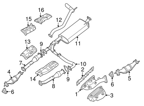 Exhaust Components For 2007 Nissan Pathfinder