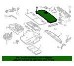 Floor Cover - Mercedes-Benz (166-680-91-03-9H42)