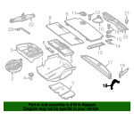Cargo Cover Front Bracket - Mercedes-Benz (166-810-15-14)