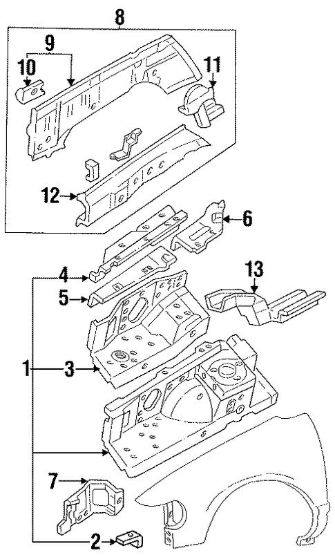 structural components  u0026 rails for 1995 mercury villager
