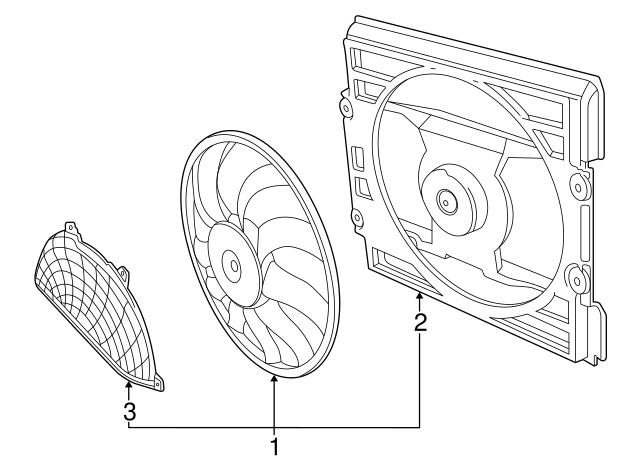 2002 2008 bmw fan assembly 64 54 6 921 379 germain bmw parts A C Condenser Parts Diagram