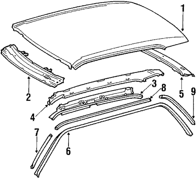 Side Rail - Mercedes-Benz (126-637-10-47)