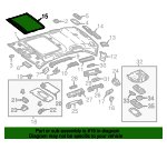 Sunroof Cover - Mercedes-Benz (213-780-17-00-9H93)