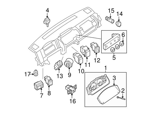 Genuine Nissan Sun Load Sensor 28576-9BH0A