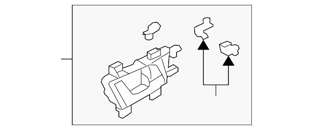Acura 72120-TK4-A11 Interior Door Handle