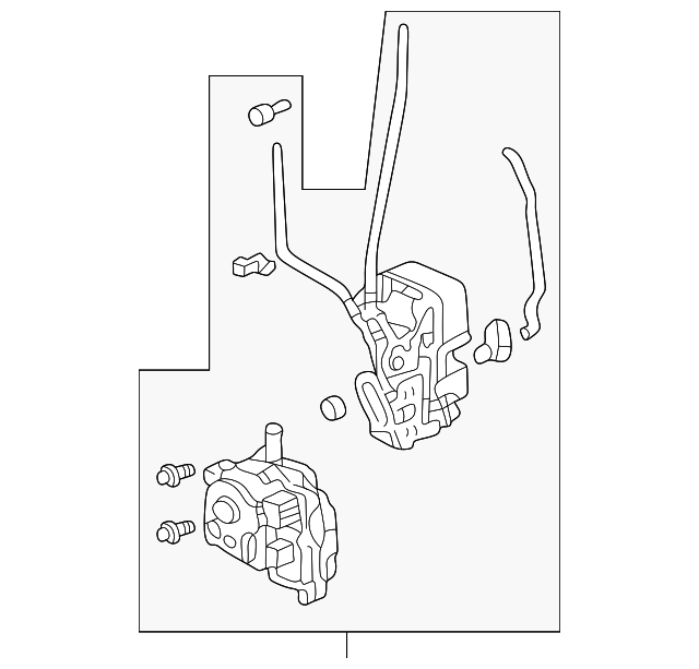 Lock Assembly, R Front Door Power