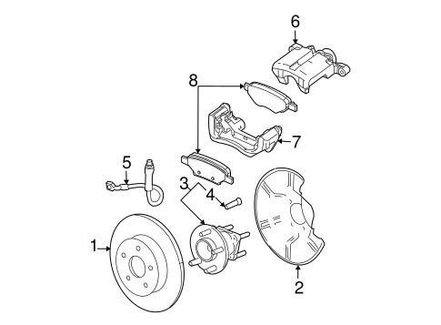 Brakes/Brake Components for 2006 Chevrolet Malibu #2