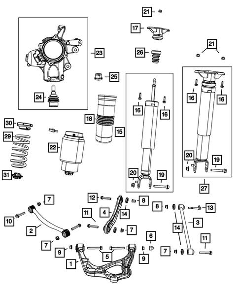 Mopar 68029591AC Rear Suspension Control Arm Bumper