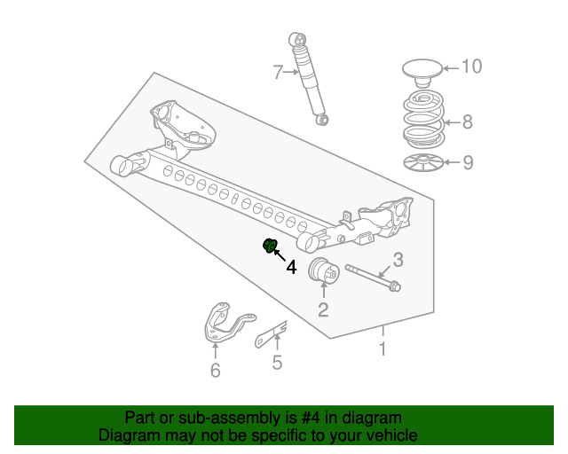 Ft Control Arm Nut GM 11516078 GMpartsdirect. Ft Control Arm Nut. Chevrolet. Trailling Arm Parts Diagram 2002 Chevy Impala At Scoala.co