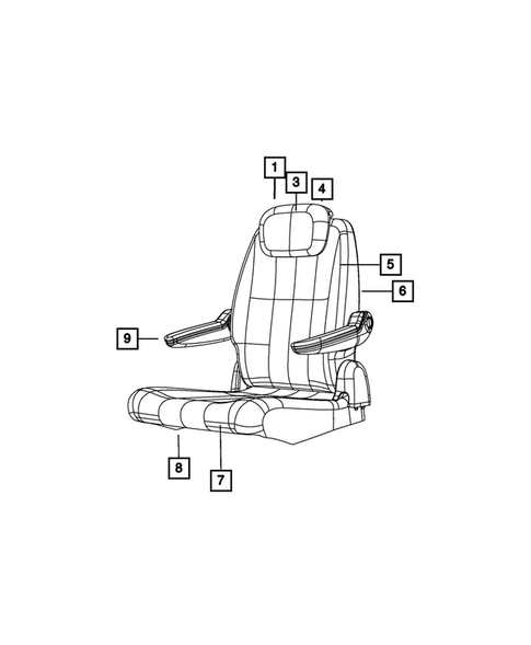 Rear Seats - Second Row for 2013 Chrysler Town & Country #0