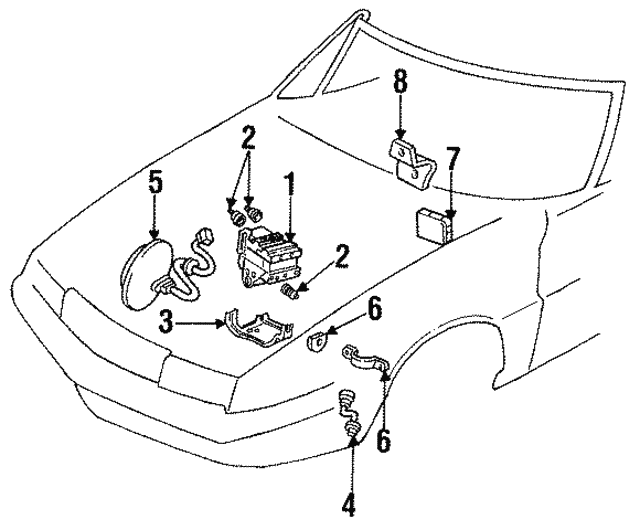 1990 2002 Cadillac Abs Sensor Bracket 3530614