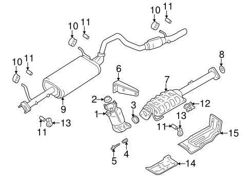 exhaust components for 2002 chevrolet tracker base. Black Bedroom Furniture Sets. Home Design Ideas