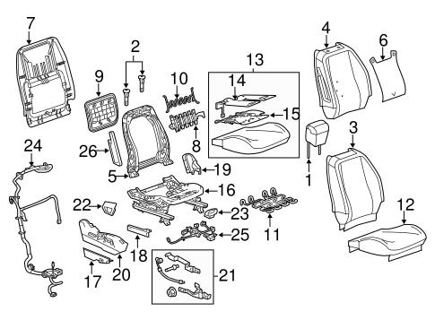 oem 2010 chevrolet equinox air bag components parts