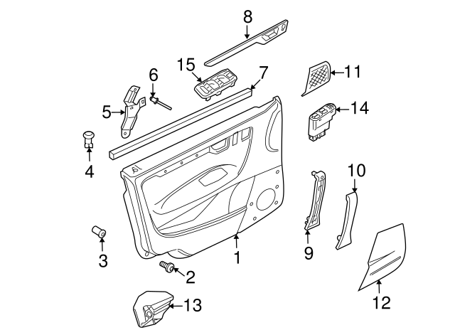Genuine Volvo Door Trim Panel Clip 39964095