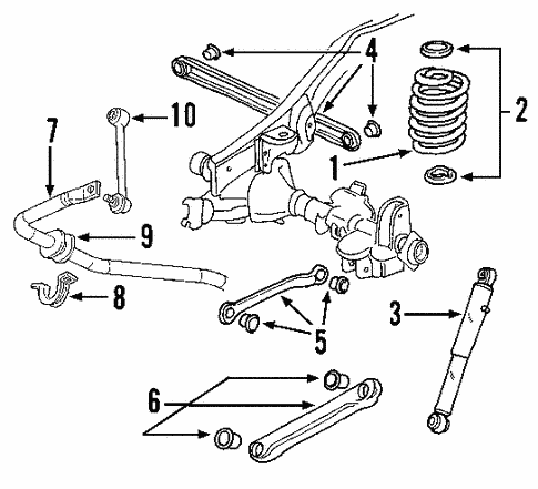 Rear Suspension for 2000 GMC Yukon #1