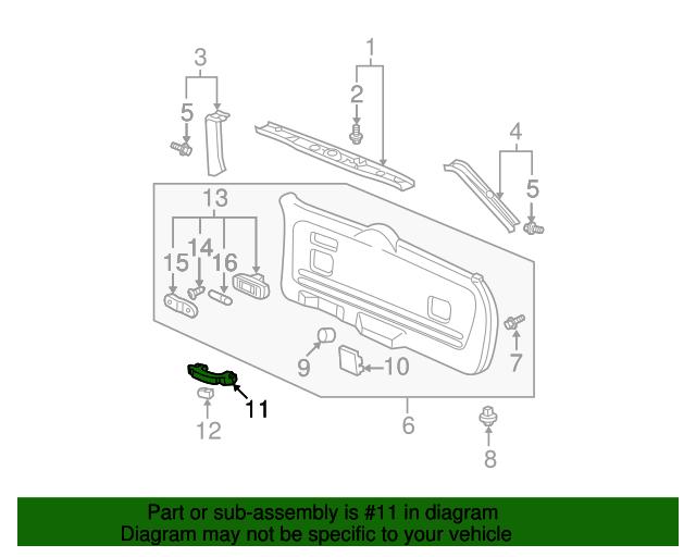 Honda Genuine 83240-S9V-A12ZE Grab Rail Assembly