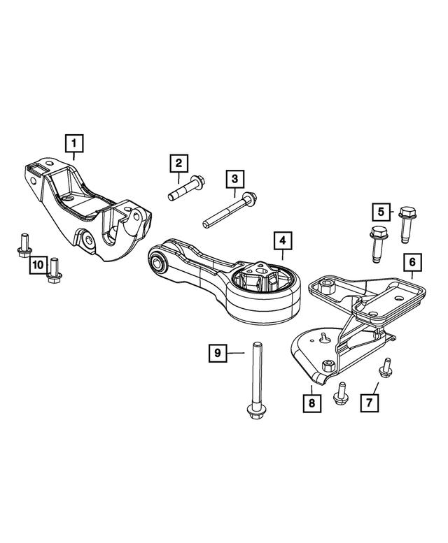 2011 2020 Dodge Journey Engine Mount 5147774ac Mopar Wholesale Parts