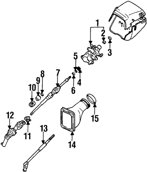 STEERING/INNER COMPONENTS for 1998 Toyota Supra #1