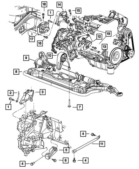 Engine Mounting for 2005 Dodge Stratus | Thomas Dodge PartsThomas Dodge Parts