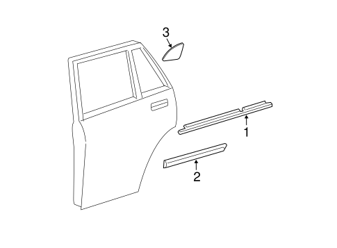 BODY/EXTERIOR TRIM - REAR DOOR for 2006 Toyota Highlander #1