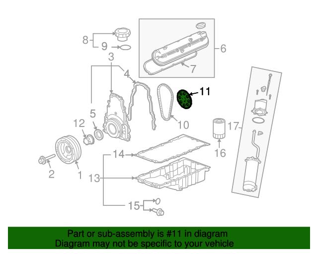 General Motors 12586481 Engine Timing Camshaft Sprocket