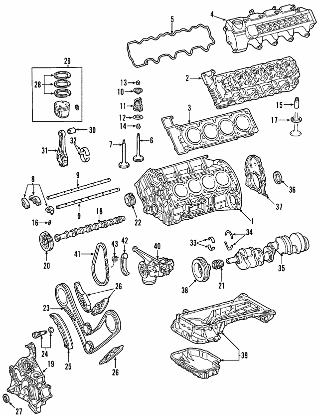 Engine Camshaft - Mercedes-Benz (113-050-90-01)