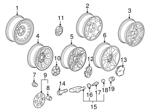 1999 2014 Gm Wheel Nut Cap 15045768