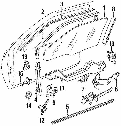 Oem Lock Hardware For 1994 Chevrolet Lumina