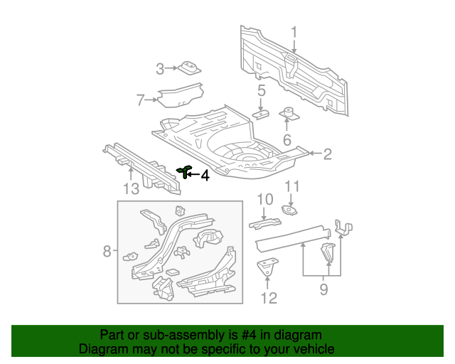 Rear Floor Pan Bracket