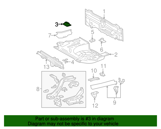 Rear Floor Pan Mount Bracket