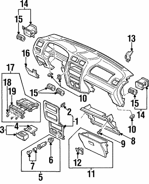 Controls for 1997 Mazda Protege #0