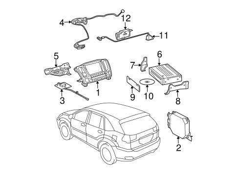 Navigation System Components For 2007 Lexus Rx350