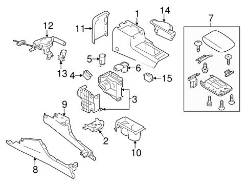 Center Console For 2014 Subaru Xv Crosstrek