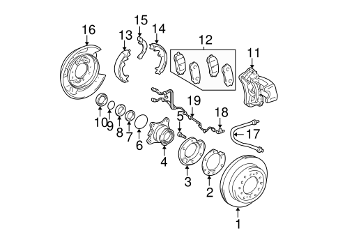 BRAKES/BRAKE COMPONENTS for 2008 Toyota 4Runner #1