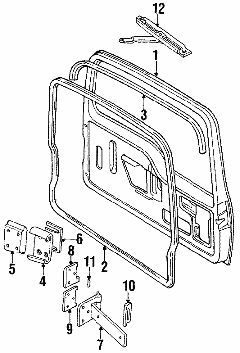 Door Components For 1997 Land Rover Discovery