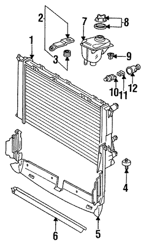 Radiator Assembly Lower Insulator