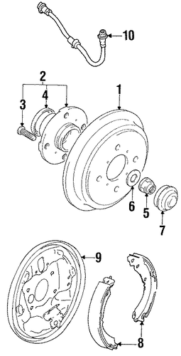 rear brakes for 1996 suzuki swift