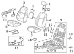 Heater, Front Seat Cushion - Honda (81134-TRT-A01)